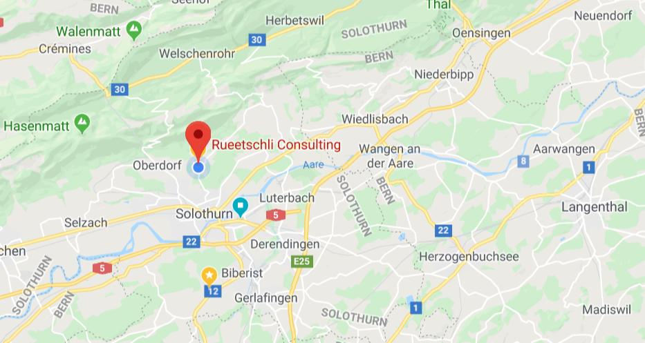 Karte Rueetschli Consulting von Michael Rueetschli